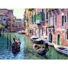 A Beautiful View In Venice - <b>DIY Painting By</b> Numbers Kit