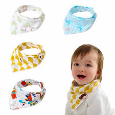 Double Buckles Cotton Bib for <b>Newborn Baby Towel Baby</b> Triangle ...