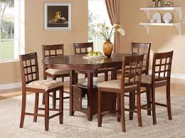 Wood Dining Room Sets Elegant Height Dining Room Sets Design With Height Oval Top Wood