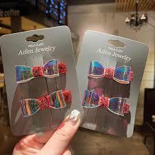 <b>2Pcs</b> Hair Accessories Jelly Bows Hairpins for Girls <b>Cute</b> Barrettes ...