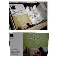 umbra wallflower wall decor white set: umbra wallflower wall decor  flowers white diy