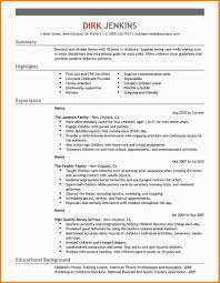 babysitting bio example nypd resume related for 7 babysitting bio example