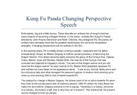 argumentaive rutgers essay kung fu panda changing perspective speech in the action comedy film