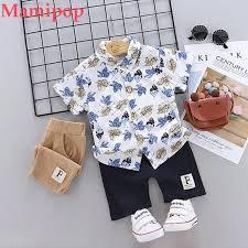 Summer <b>Toddler Kids Baby Boy</b> Floral T Shirt Tops Shorts Pants ...