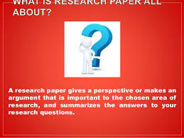 steps for writing an effective research paper Step