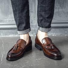 2019 <b>Men Dress Shoes Handmade</b> Brogue Style Paty Leather ...