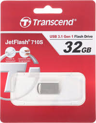 USB-<b>накопитель Transcend</b> JetFlash 710 <b>32GB</b>, серебристый