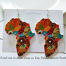 2019 Tribal <b>Wood Africa</b> Map DIY Colorful <b>Painting</b> Afro Vintage ...