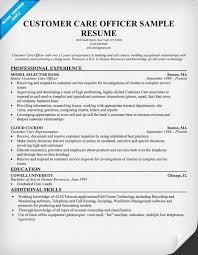 Resume Samples Customer Service