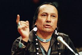 Russell Means, who led the American Indian Movement, (AIM) shown here in 1989 testifyinng before the US Senate in Washington. - 10-22-12-Russell-Means_full_600