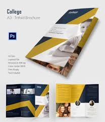 college brochure jpg psd indesign format editable college tri fold brochure