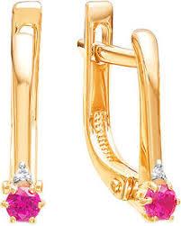 Купить золотые <b>серьги Ювелирные Традиции</b> в интернет ...