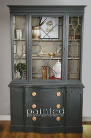 ideas china hutch decor pinterest: antique china cabinet painted in annie sloan graphite and french linen