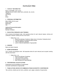 easy curriculum vitae format template example basic easy curriculum vitae format template example 2017