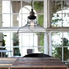 E27 28CM Vintage Industrial <b>Ceiling Lampshade Glass Pendant</b> ...