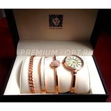 <b>женские часы anne klein</b> с браслетами и коробкой оптом