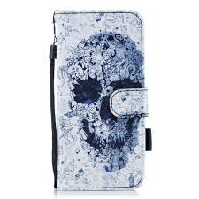 Housse Samsung Galaxy S9 - Tête de mort   <b>Leather wallet case</b>, <b>Pu</b> ...