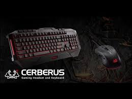 Обзор <b>Asus Cerberus Gaming</b> Keyboard - YouTube