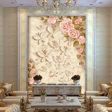 room elegant wallpaper bedroom: europe rose flowers photo wallpaper custom d wallpaper elegant wall murals kids bedroom nursery bar living