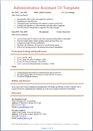 Administrative Assistant CV Template + Tips and Download - CV Plaza Administrative Assistant CV Template Page 2 Preview