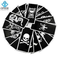 Wholesale <b>OPHIR Reusable</b> Airbrush Stencils Skull+Animal Series ...