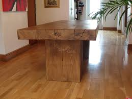Oak Furniture Dining Room Oak Beam Dining Table With Pedestal Basejpg Diy Paver Patio