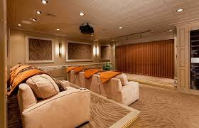 view in gallery basement remodel turns the space into a lavish home theater design custer design group basement lighting solutions basement ceiling lighting