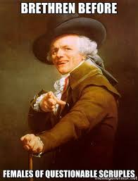 Brethren before females of questionable scruples - Joseph Ducreux ... via Relatably.com