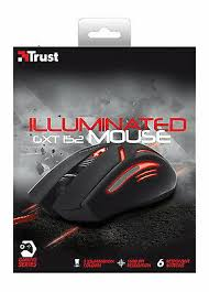 NEW <b>TRUST</b> ILLUMINATED 6 BUTTON GAMING MOUSE GXT152 ...