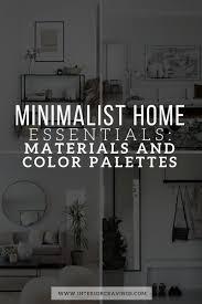 <b>MINIMALIST</b> HOME ESSENTIALS: MATERIALS AND <b>COLOR</b> ...
