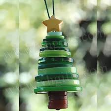 cheap christmas decor: button tree craft kitsbutton craftschristmas tree ornaments
