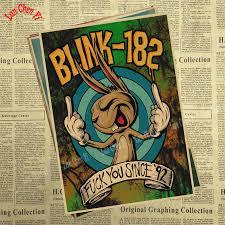 <b>Blink 182</b> rock band band music Kraft Paper Antique Poster High ...
