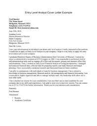 entry level cover letter example informatin for letter cover letter examples entry level accounting resignation letter