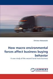 how macro environmental forces affect business buying behavior a how macro environmental forces affect business buying behavior a case study of the second hand truck business christos kakazoukis 9783844320336