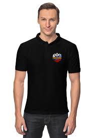 """Рубашка Поло """"Россия"""" #1471181 от gopotol - <b>Printio</b>"""
