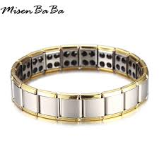 Alpaca rendy <b>Magnet Bracelet Bangle for</b> Men Stainless Steel ...
