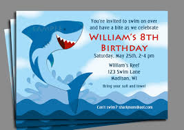 shark invitation printable or printed shipping shark invitation printable or printed shipping boy s pool party swim party 128270zoom