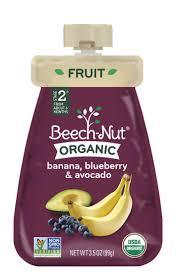 Beech-Nut <b>Organic Baby Food</b>, <b>Stage</b> 2, Organic Banana, Blueberry ...