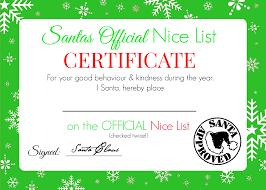 christmas nice list certificate printable super busy mum santa nice list certificate 3