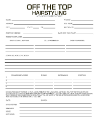 off the top employment application employment application