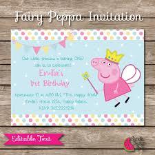 peppa pig printable birthday invitation editable text fairy peppa pig printable birthday invitation editable text fairy peppa invitation pepa la cerdita