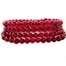 2019 4 Circles Collection Natural Wine <b>Red Garnet Bracelet Female</b> ...