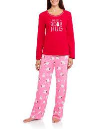 10y-18y Leisure Home Big Girls <b>Cute Bear</b> Long Sleeve Pajamas ...