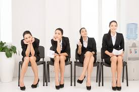 Image result for photo of female job applicants seated