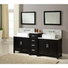 standard bathroom sink base cabi dimensions: direct vanity sink horizon premium  in double vanity in ebony with marble vanity top in carrara white and mirrors d ewc the home depot