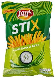 <b>Чипсы</b> Lay's Stix <b>картофельные Сметана и</b> лук — купить по ...