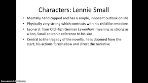 of mice and men revision characters of mice and men revision characters