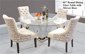 borghese round dining table with mirror base borghese mirrored furniture