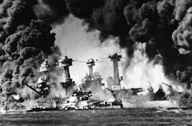 awakening the sleeping giant the birth of the greatest generation battleship uss west virginia engulfed in flames and smoke during the attack on pearl harbor