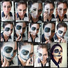 what you 39 ll need for a basic skeleton costume makeup i used my makeupforever flash palette but any costume makeup or face paint at your local